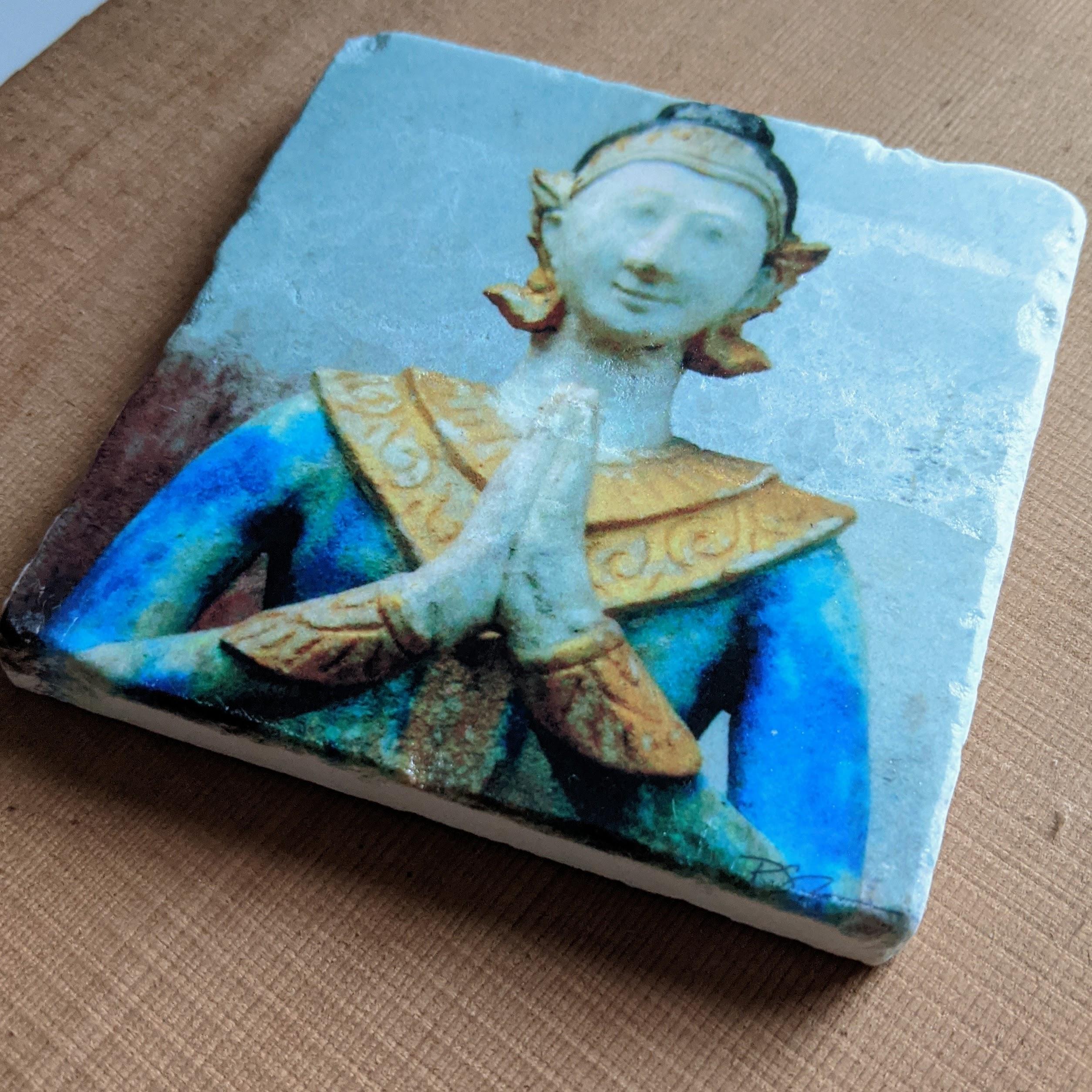 Marble Art Coaster - Namaste